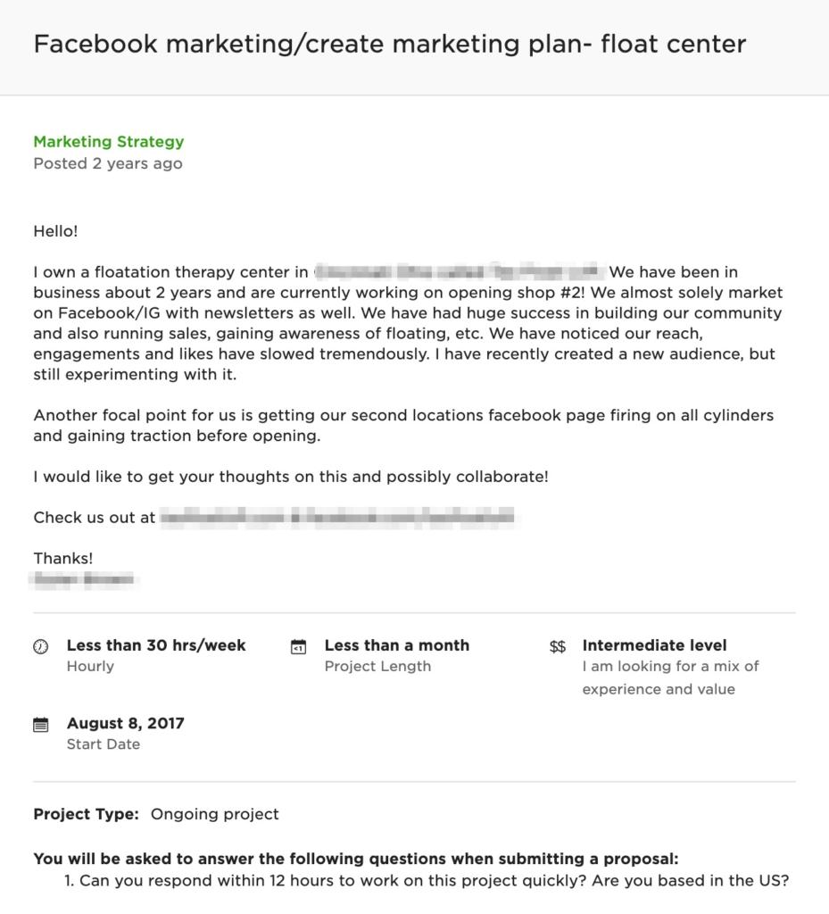 freelance digital marketing job description
