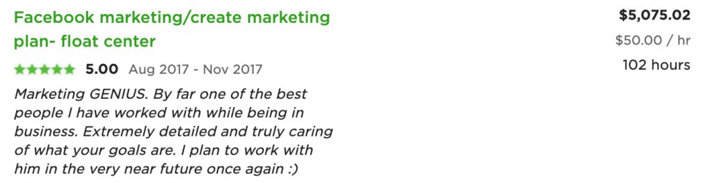 freelance digital marketing project review