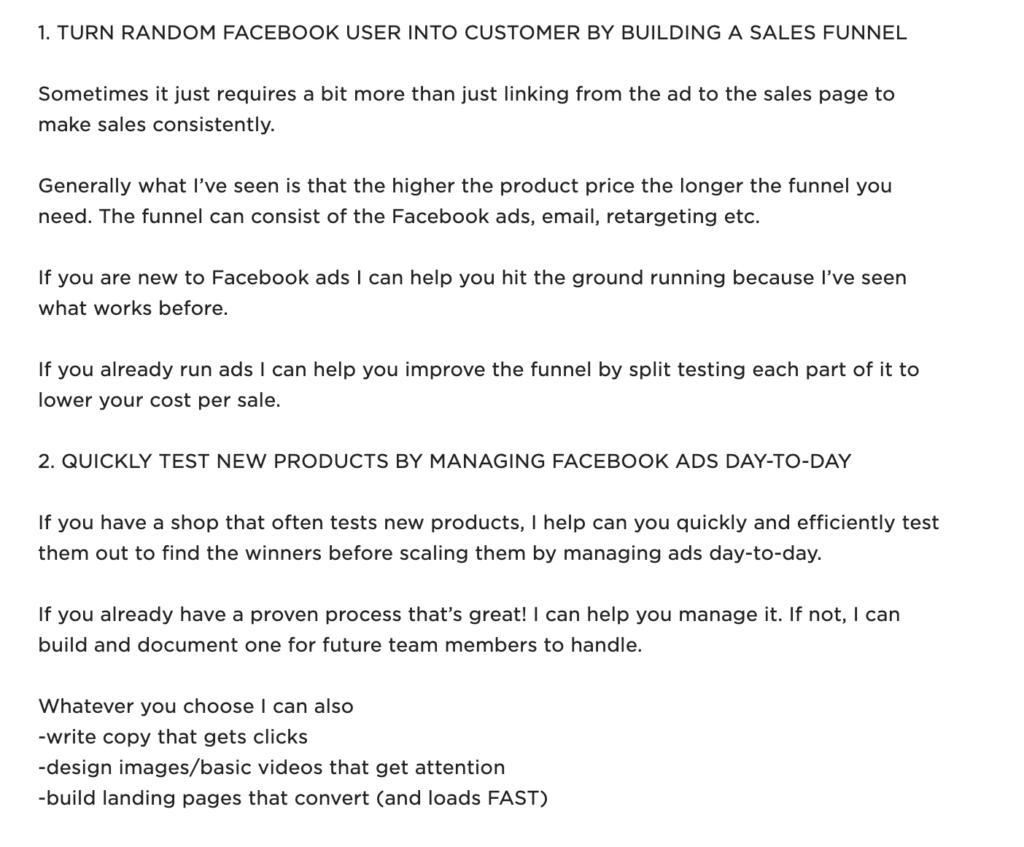 freelance digital marketing upwork profile example 2