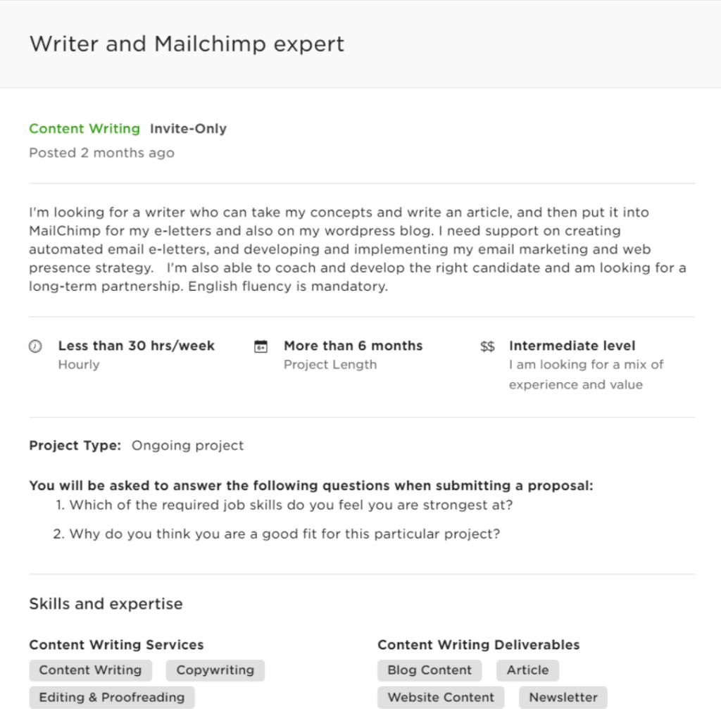 freelance copywriting remote job