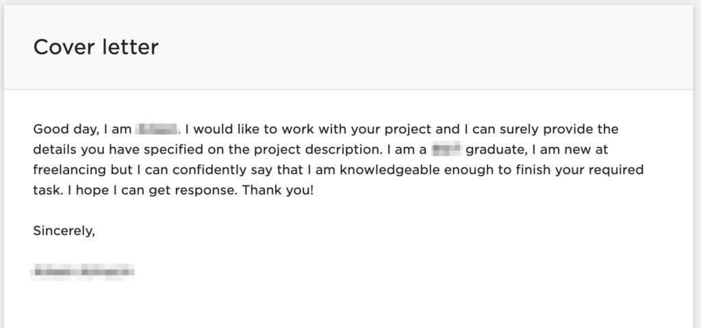 upwork proposal sample - bad example