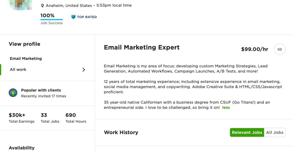 email marketing example 1
